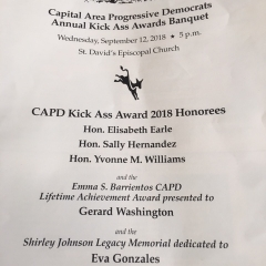 CAPD Kick Ass Awards 2018 Honoree - Judge Yvonne Williams