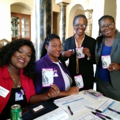 At the Welcome Table with Laronica - Brooke - JoAnn - Judge Yvonne Williams